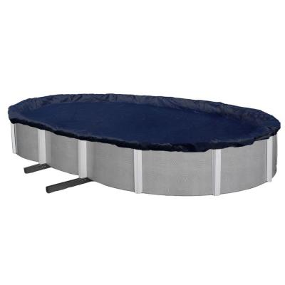8-Year Oval Navy Blue Above Ground Winter Pool Cover