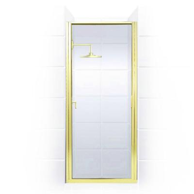 Paragon Series 24 in. x 65 in. Framed Continuous Hinged Shower Door in Gold with Clear Glass Product Photo