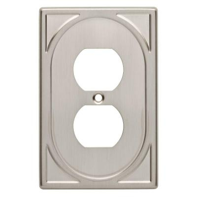 Cambray 1 Duplex Wall Plate - Satin Nickel