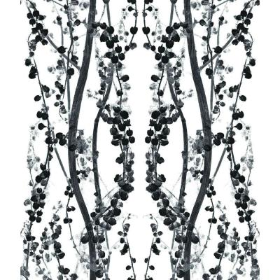 56 sq. ft. Branches Black and White Wallpaper