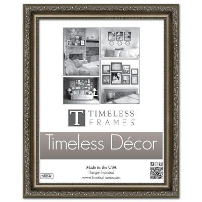 Carrington 1-Opening 11 in. x 14 in. Pewter Picture Frame