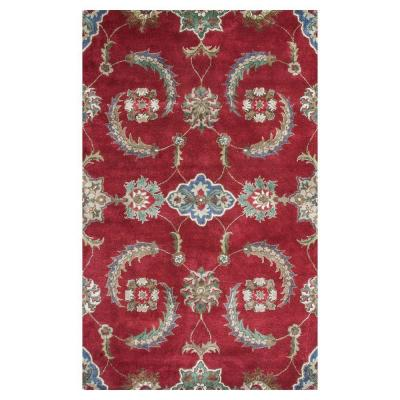 Perfect Choice Red/Ivory 8 ft. x 10 ft. Area Rug
