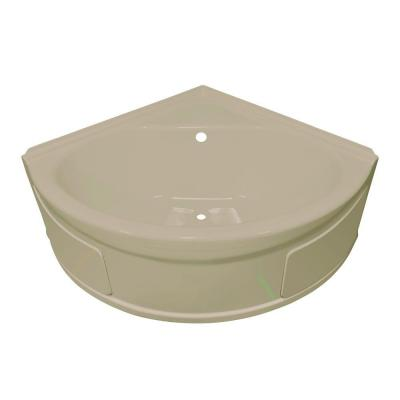 industries sea wave 4 ft heated center drain soaking tub in almond
