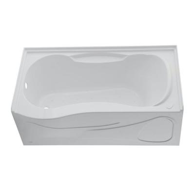 Monarch 5 ft. Left Hand Outlet Air Bath Tub with Integral