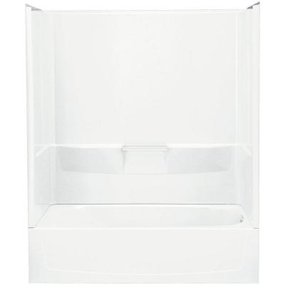 Performa 30 in. x 60 in. x 75-1/2 in. Standard Fit Bath and Shower Kit in White Product Photo