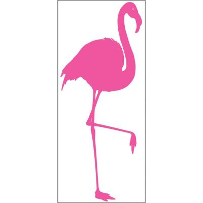 Snap 39.75 in. x 17.125 in. Pink Flamingo Wall Decal