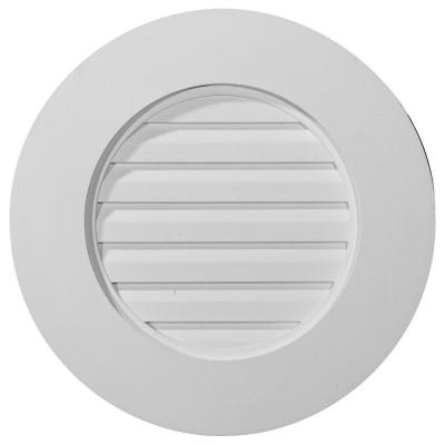 2 in. x 20 in. x 20 in. Decorative Round Gable Louver Vent Product Photo