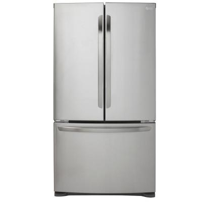 LG Electronics 20.7 cu. ft. French Door Refrigerator in Stainless Steel, Counter Depth