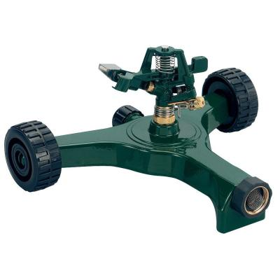 80 sq. ft. Zinc Impact Sprinkler with Plastic Wheel Base Product Photo