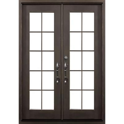 64 in. x 82 in. Key Largo Dark Bronze Right-Hand Outswing