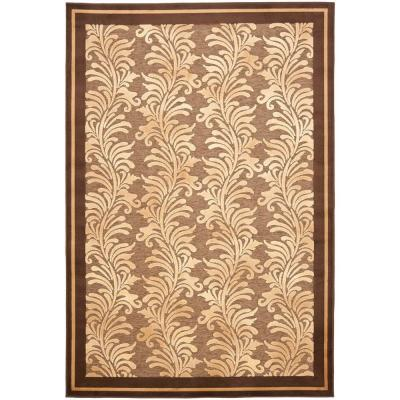 Martha Stewart Living Plume Stripe Brown 7 ft. 10 in. x 11 ft. 2 in. Area Rug
