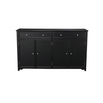 Home Decorators Collection Oxford 2-Drawer Wood in Buffet in Black