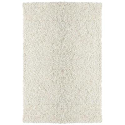 Lanart Palazzo Shag White 5 ft. x 7 ft. 6 in. Area Rug