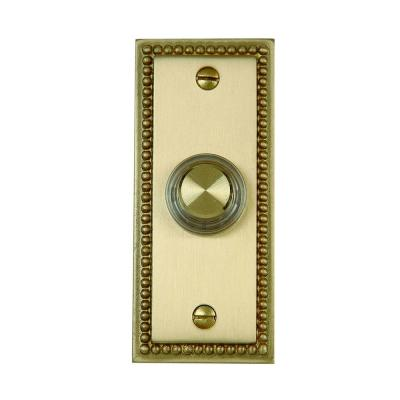 Wired Roped Door Bell Push Button, Brass (6 per Case)