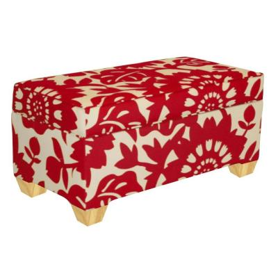 Home Decorators Collection Chatham Cherry Upholstered Storage Bench