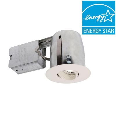 BAZZ Flex 300 Series 3 in. Matte White LED Recessed Complete Kit Fixture