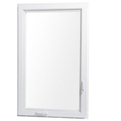 Vinyl Casement Window with Screen - Left Hand