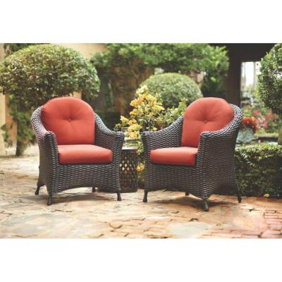 Martha Stewart Living Lake Adela Patio Chat Chairs with Spice Cushions (2-Pack)