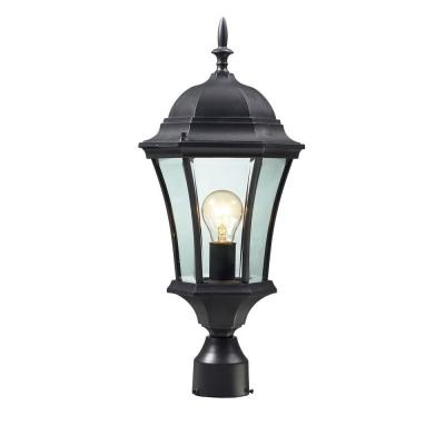 Lawrence 1-Light Outdoor Black Incandescent Post Light Product Photo