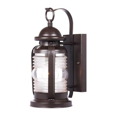 Westinghouse Weatherby Wall-Mount 1-Light Outdoor Weathered Bronze Lantern