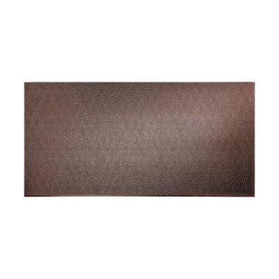 Fasade 96 in. x 48 in. Hammered Decorative Wall Panel in Smoked Pewter