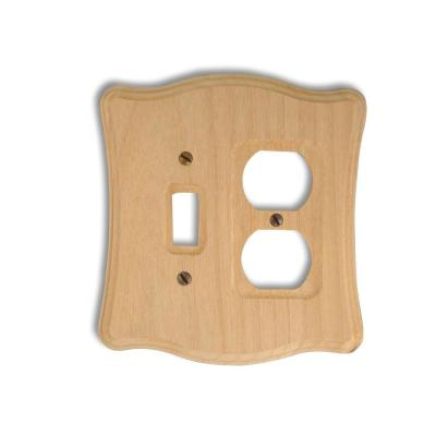 Amerelle 1 Toggle 1 Duplex Wall Plate - Un-Finished Wood