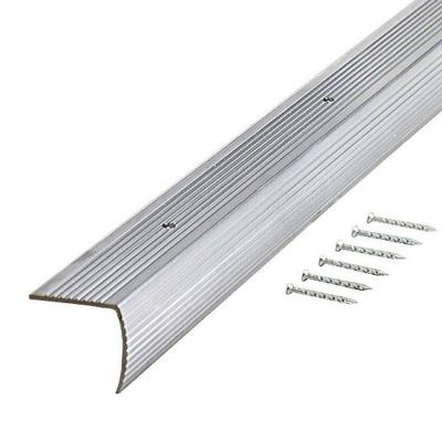 TrafficMASTER Silver Fluted 36 in. Stair Edging