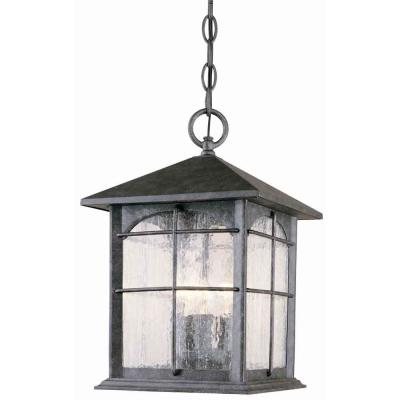 Hampton Bay Hanging Mount 3 Light Outdoor Aged Iron Lantern DISCONTINUED Y370