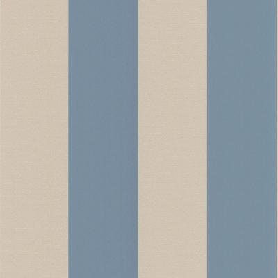 56 sq. ft. Purcell Blue Stripe Wallpaper