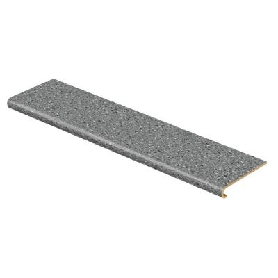 Confetti Dark Grey 47 in. Long x 12-1/8 in. Deep x 1-11/16 in. Height Vinyl to Cover Stairs 1 in. Thick Product Photo