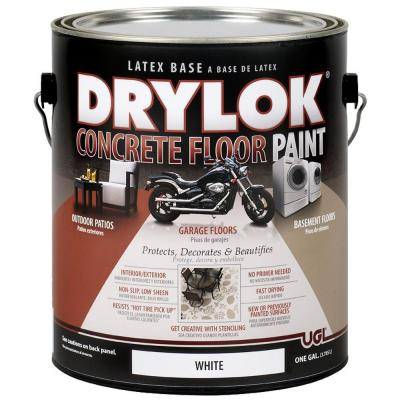 1 gal. White Latex Concrete Floor Paint