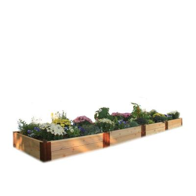 Frame It All Two Inch Series 4 ft. x 16 ft. x 12 in. Cedar Raised Garden Bed Kit
