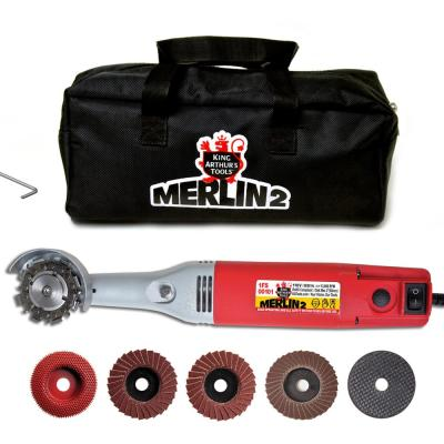 1 Amp 2 in. Corded Mini Angle Grinder Merlin2 Carving Set