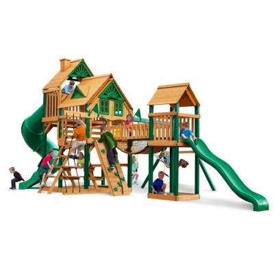 Treasure Trove Treehouse Swing Set with Timber Shield Cedar Playset