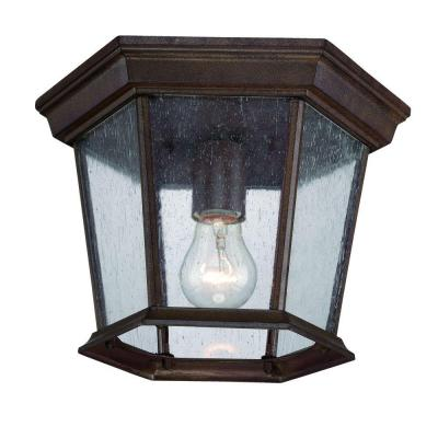 Acclaim Lighting Dover Collection 1-Light Ceiling Outdoor Burled Walnut Fixture