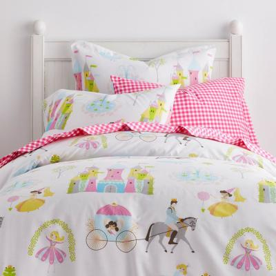 Storybook Princess 200-Thread Count Organic Cotton Percale Duvet Cover
