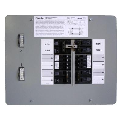 GenTran 50 Amp 12,500-Watt Indoor Manual Transfer Switch for 12-16 Circuits-DISCONTINUED