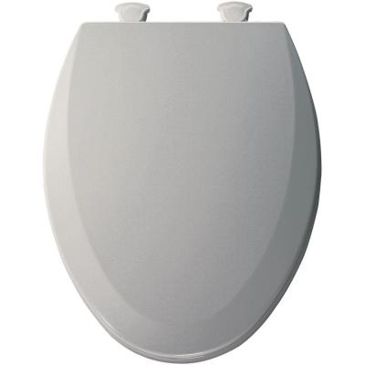 Lift Off Elongated Closed Front Toilet Seat In Ice Grey