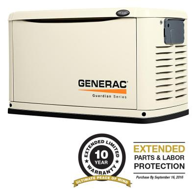 11,000-Watt Air Cooled Automatic Standby Generator Steel Enclosure