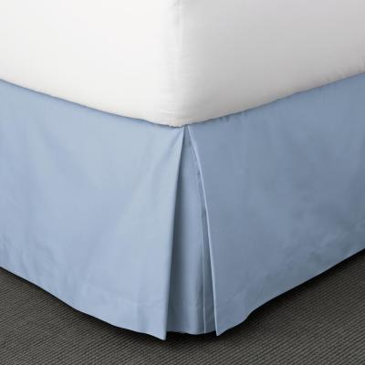 Classic Solid 350-Thread Count Sateen 14 in. Bed Skirt