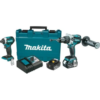 Makita 18-Volt LXT Lithium-Ion Brushless Cordless Hammer Drill/Impact Driver Combo Kit (2-Piece)
