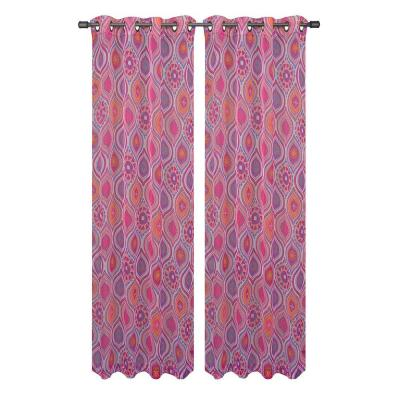 Window Elements Olina Printed Sheer Grommet Extra Wide Collection - Window Curtain
