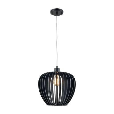 Lila 1-Light Matte Black Pendant