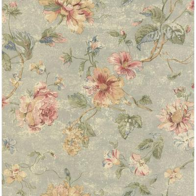 8 in. W x 10 in. H Rose Floral Wallpaper Sample Product Photo