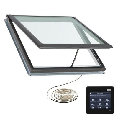30-1/16 in. x 37-7/8 in. Fresh Air Electric Venting Deck-Mount Skylight with Laminated Low-E3 Glass Product Photo