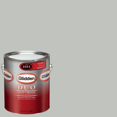 Glidden DUO Martha Stewart Living 1-gal. #MSL262-01F Nimbus Cloud Flat Interior Paint with Primer-DISCONTINUED
