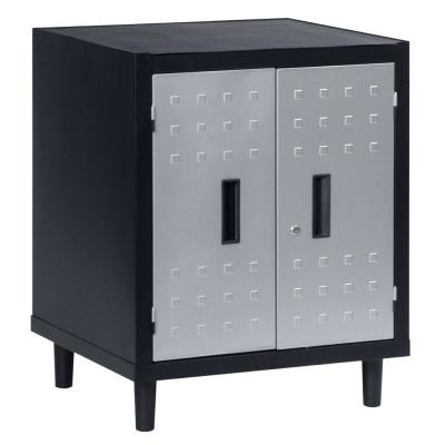 Edsal 26 in. W x 34 in. H x 24 in. D Freestanding Steel Cabinet in Black-DISCONTINUED