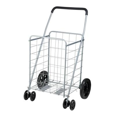 Honey-Can-Do Steel Rolling Dual Wheel Utility Cart in Gray