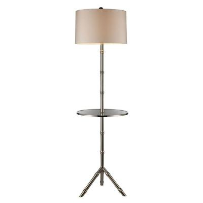 Stanton 59 in. Silver Plating Floor Lamp with Glass Tray and