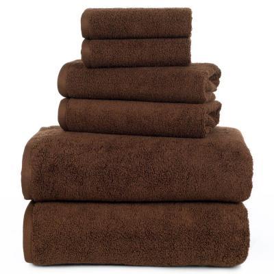 Zero Twist 6-Piece Solid Cotton Bath Towel Set
